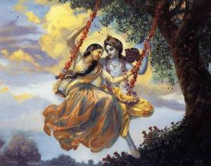 Radha-Krishna on the jhula